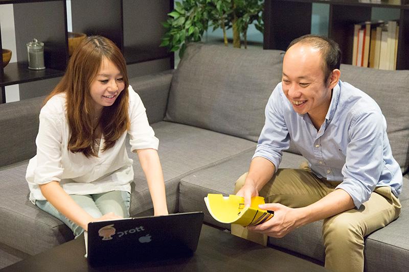 TAMSANの藤原さん(右)と嘉和知さん(左)